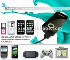 OEM portable external micro usb lithium battery for mobile phone PSP PDA camera smart phone MP3&4 with LED flashlight