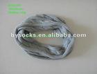 2012 popular plain grey knitted acrylic neck circle scarf