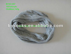 2012 popular plain grey knitted acrylic neck circle scarf