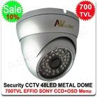 700TVL SONY EFFIO-E CCD CCTV Vandal-proof Metal IR Dome Camera Outdoor