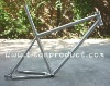 Gr.9 Titanium MTB Frame 26'' Integrated Seatpost/44mm Integrated Headtube/Double Downtube/Hidden Cable Running/Sliding Dropouts
