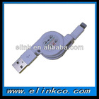 8P Retractable USB Data Cable for iphone5/ipad mini