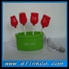 Hot USB 2.0 HUB Rose in Flowerpot Design