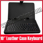 "10"" Android Tablet PC MID Leather Case Keyboard with Stylus Black and White"