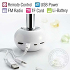 Mini Vibration Speaker With FM Radio,MP3 Player and Remote Control Built-in Lithium Battery Free Shipping