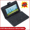 8inch leather case with keyboard tablet pc stand keyboard fit for 7inch tablet pc