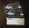 Plastic card with bar code & hot stamp silver