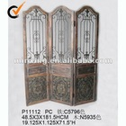 Decorative wooden room divider