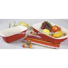 Rectangular Stoneware Bread And Loaf Pan (DS-922)