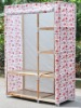 simple assembled wooden cloth storage cabinet/cloth wardrobe