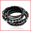 Black Newyork Style Elastic Bangle