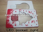LED Pocket Lights of credit card size