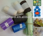 pet waste bags in roll with corn starch biodegradable material