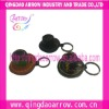 Fashion leather hat keychains cowboy hat keychain