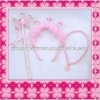 Fashion plated plastic princess tiara and wand
