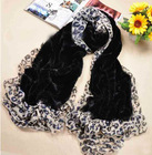 Winter lurex decorated imitation fur wool scarf shawl/Jacquard warm fashion scarf