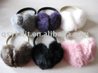 real rabbit fur earwarmer