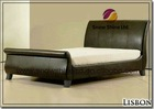 Libson 4FT6 Brown Double Faux Leather Bed 8014BK-3