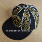 Custome design 100% cotton flat peak snapback cap with embroidery&printing logo