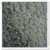 Rosette Fabric,chiffon dribbling embroidery &sequins on 100%polyester lace