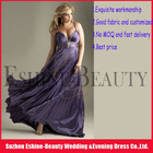 2012 popular purple chiffon halter top empire corset maternity prom dresses