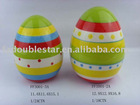 glazed ceramic easter eggs decoration