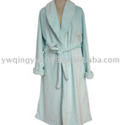 Light Blue Coral Fleece Men's Bathrobe