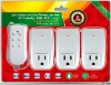 3ch intelligent wireless plug remote control (ZABP-3)