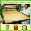 The Automatic Frying Potato Chip Processing Line