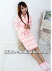 girls' sweet fashion cartoon coral velvet night-robe