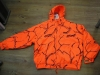 Hunting print fleece coat