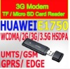 Huawei E1750 3G modem for most tablet pc