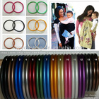 Popular aluminium ring for baby carrier strechy sling, sling ring, sling to carry baby