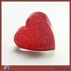 Red heart-shaped acrylic papeweight