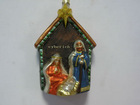 glass nativity ornaments