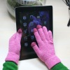 Colorful Touch gloves with three touch fingers for iphone/ipad