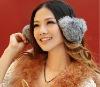 fashion real rabbit fur soft earmuffs ear muffs christmas gift large adjustable