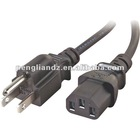 PC Power Cable-IEC 60320 C13 socket to NEMA 5-15 plug