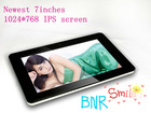 the cheapest 7inch tablet pc allwinner a10 android 4.0 mid with 1024*768 high definition IPS screen