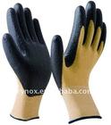Kevlar cut resistant gloves with black nitrile palm coated