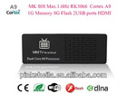 Google Android 4.1 dual core A9 Rockchips RK3066 MK808 1G DDR3 8GB flash 1.6GHz iptv streaming server hd player