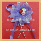 Lovely Lavender flowers ribbon applique for children clothes HD70