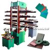 Rubber tile forming machine for tire recycling