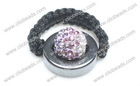 Multicolor Crystal pave Argil Beads Shamballa Bead Rings