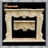 beige indoor stone fireplace mantel surround design YL-B199