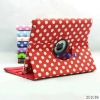 Smooth Spot 360 Degrees Rotatable PU Leather Case for iPad2 / iPad 3
