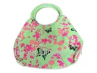 fashionable handbag with butterfly pattern