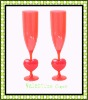 Plastic high neck cup for Valentine