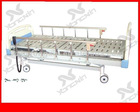 Three functional electric hospital bed with aluminum guardrail