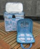 Insulated picnic basket with picnic set